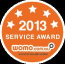WOMO 2013 Service Award